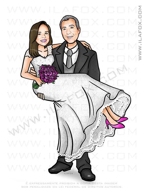caricatura casal, caricatura casamento, caricatura noivos, caricatura sem exagero, by ila fox
