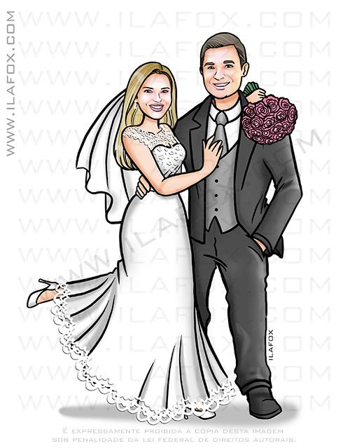 caricatura para casamento, caricatura noivinhos, caricatura casal, caricatura bonita, caricatura sem exagero, caricatura personalizada, by ila fox