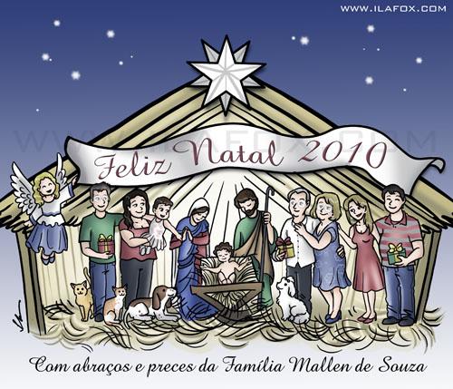Ilustração Presépio, sagrada família, menino Jesus, by Ila Fox