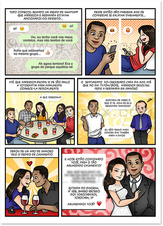 convite em quadrinhos, convite noivos, convite casamento original, convite diferente, convite divertido, by ila fox