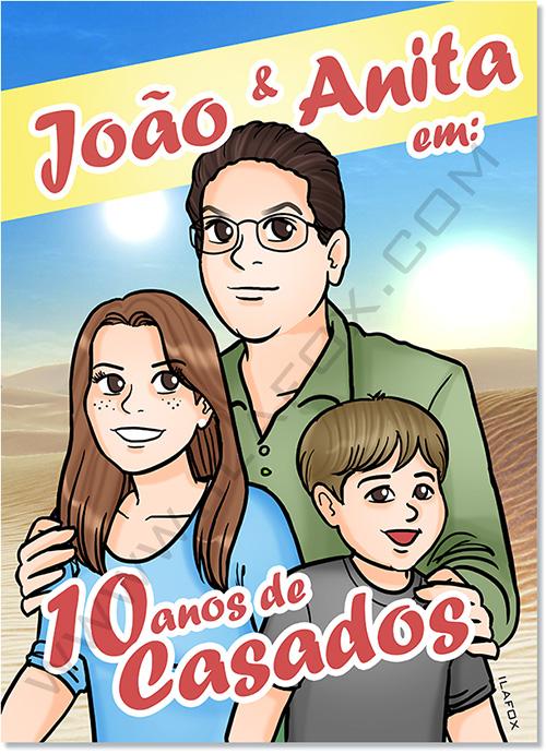 convite em quadrinhos, quadrinhos personalizados, quadrinhos familia, quadrinhos historia casal, quadrinhos presente, by ila fox
