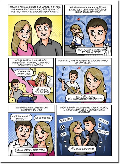 convite em quadrinhos, convite personalizado, convite para casamento, convite original, convite história casal, by ila fox