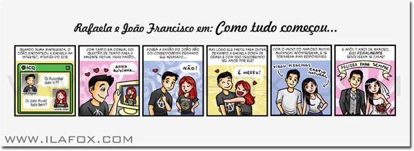 Quadrinhos personalizados, quadrinhos para noivos, convites originais, by ila fox