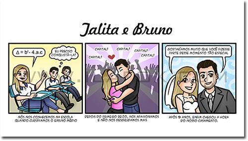 convite em quadrinhos, convite original, convite casamento, convite divertido, história dos noivos, by ila fox