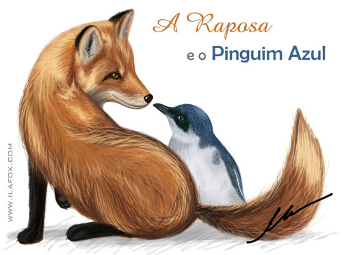 a raposa e o pinguim azul by ila fox