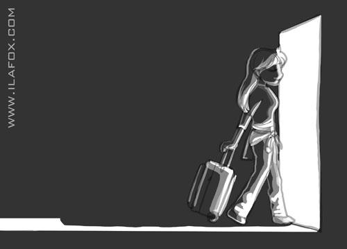 menos mimimi, viajar é bom, relaxar viajando, seja feliz viajando, ilustração by ila fox