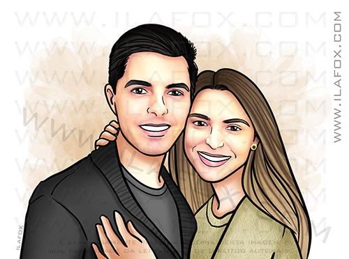 retrato personalizado, retrato bonito, retrato casal, retrato para presente, retrato sob encomenda, retrato digital, by ila fox