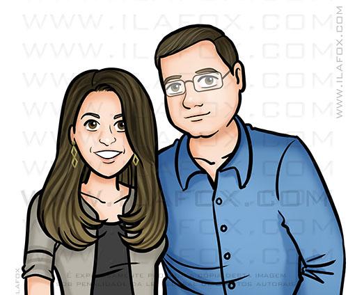 retrato casal, retrato personalizada, retrato by ila fox