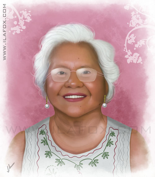 Retrato realista, senhora, by ila fox