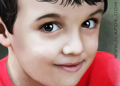 retrato realista infantil, by ila fox