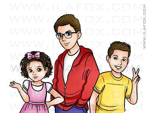 retrato filhos, retrato família, retrato personalizado, retrato bonito, retrato sob encomenda, by ila fox