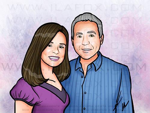 retrato personalizado, retrato casal, retrato encomenda, by ila fox