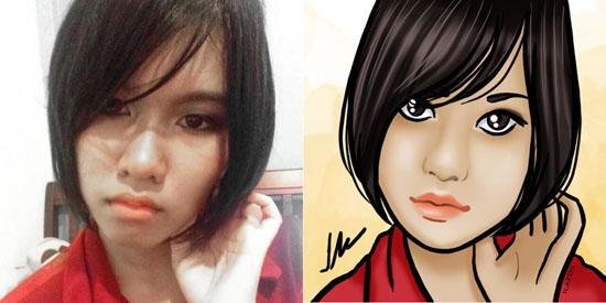 retratos personalizados, retratos para avatar, Selfless Portraits, yotaka, thailand, by ila fox