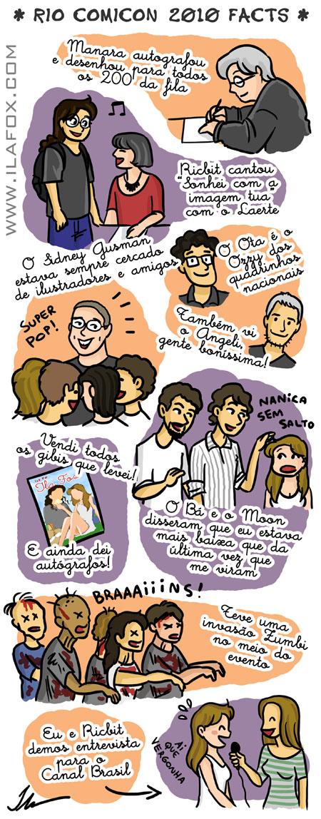 Ilustração Rio ComiCon 2010, Manara, Maurício de Sousa, Sidney Gusman, Laerte, Angeli, Gabriel Bá e Fábio Moon, Zumbis, Canal Brasil