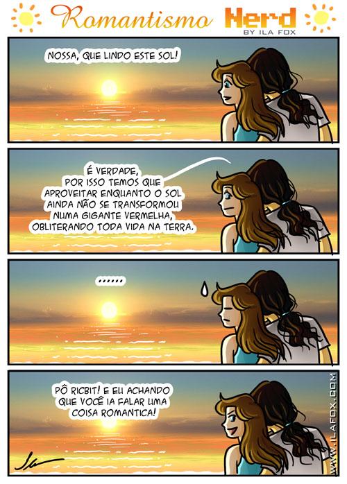 romantismo nerd na praia ao nascer do sol quadrinhos by ila fox