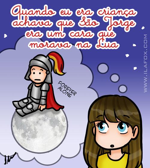 São jorge na Lua by ila fox