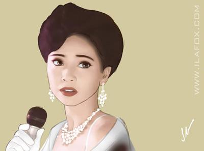Retrato realista, Sheren Tang, Tenho um encontro com a primavera, ilustração by ila fox