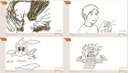 Ilustrações do Sketch Swap