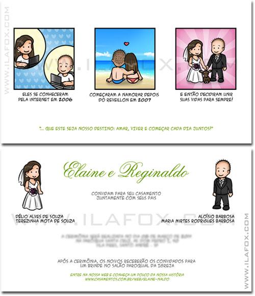 convite personalizado, convite para casamento, convite original, convite história casal, by ila fox