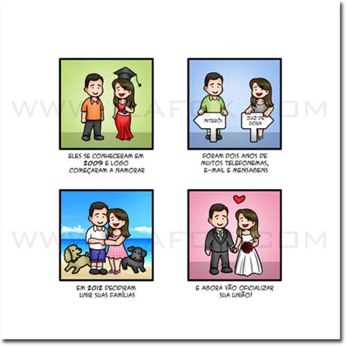 convite personalizado, convite história casal, convite original, convite divertido, convite para casamento, by ila fox