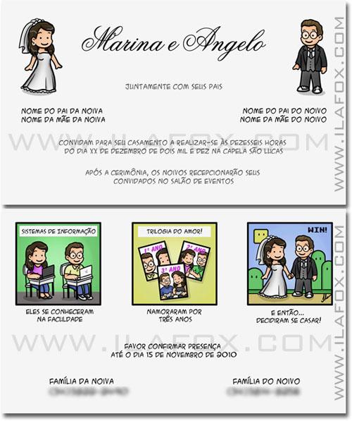 tirinha em quadrinhos, convite em quadrinhos, convite casamento original, convite nerd, Mario World, noivinhos Marina e Angelo, by ila fox