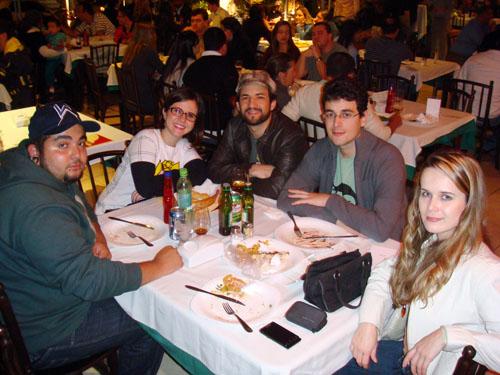 Trem Bão Ilustrado BH foto Pizzaria Margherita, Alcides, Diane, Begê, Rafael Ventura, Ila Fox