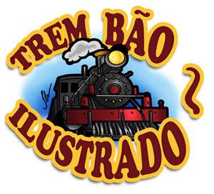 logotipo, logomarca trem bão ilustrado BH