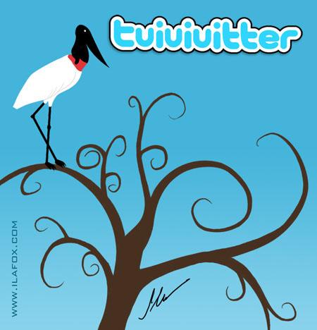 tuiuiuitter, twitter do pantanal com tuiuiú by ila fox