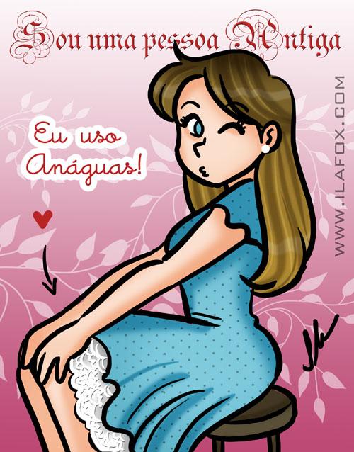 Eu uso Anaguas, anaguas, saia por baixo da saia, ilustração by ila fox