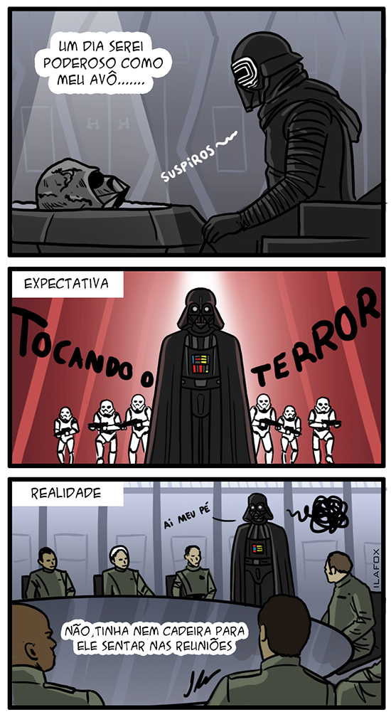 darth vader, star wars, kylo ren, quadrinhos, humor