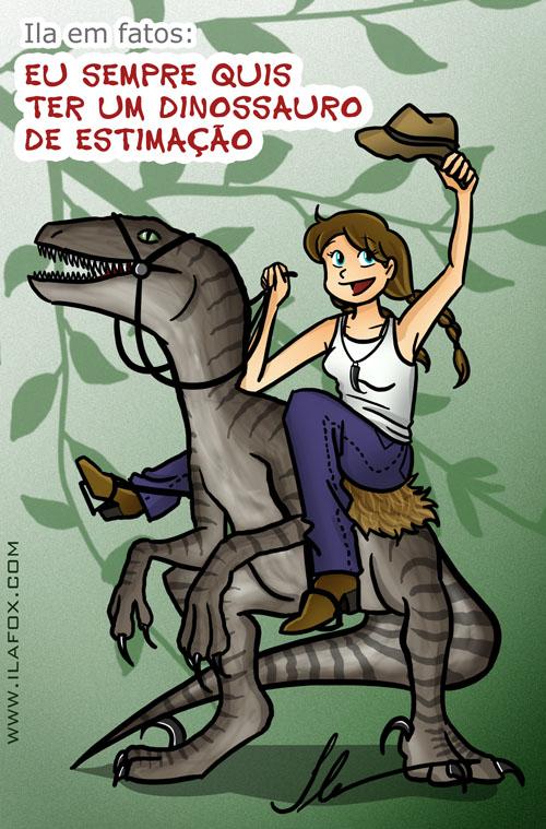 eu sempre quis ter um dinossauro de estimação, velociratpor - ilustração by ila fox