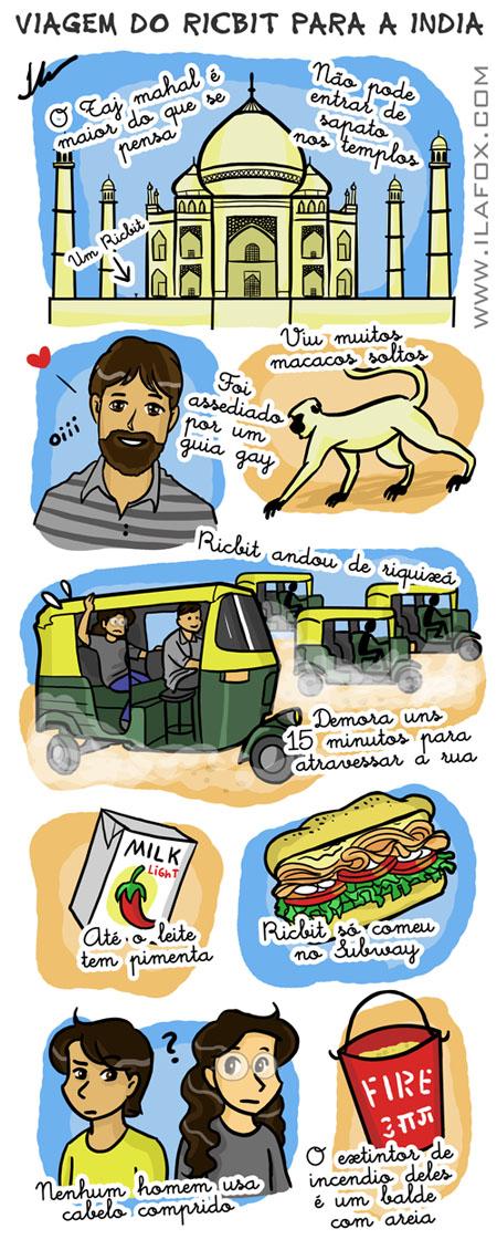 Ricbit vai para India ilustração, India em Fevereiro, by ila fox