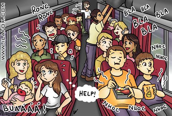 Viajar de ônibus, ilustração by ila fox