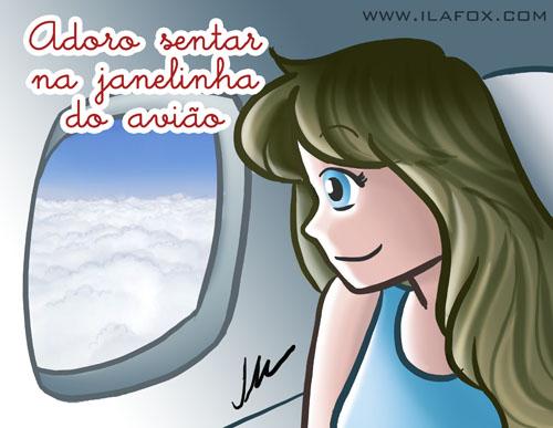Eu adoro vista aérea, eu adoro sentar na janelinha, ilustração by ila fox