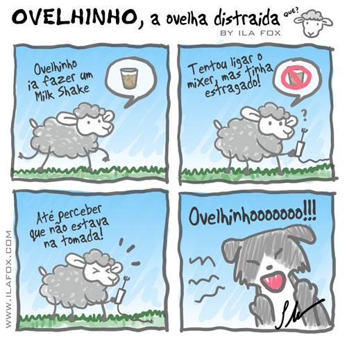 Ovelhinho a ovelha distraída, quadrinhos by ila fox