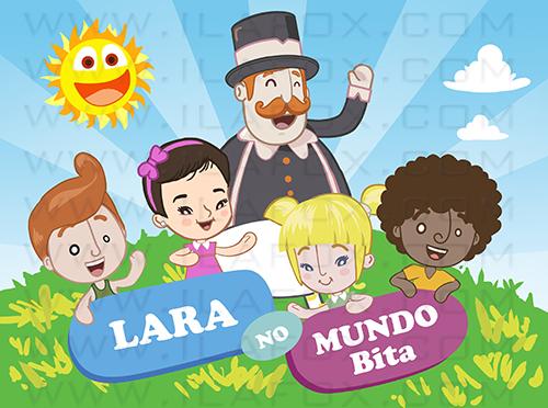 caricatura personalizada mundo de bita, mundo de bita, caricatura infantil, caricatura criança, by ila fox