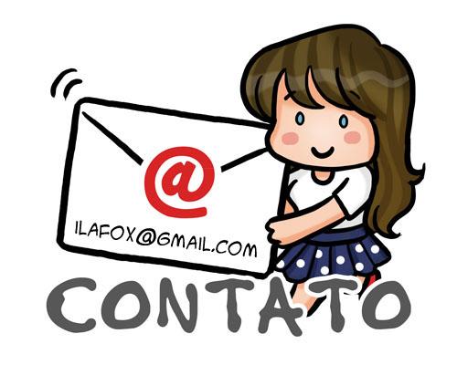 ilustração de contato e e-mail da ila fox