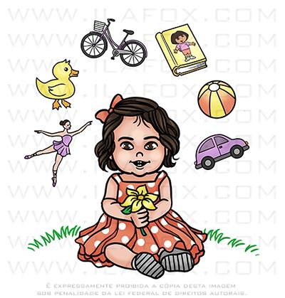 caricatura criança, caricatura bebê, caricatura bonita, caricatura digital, caricatura menina, by ila fox