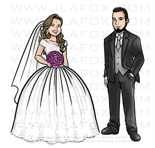 caricatura desenho, caricatura casal, caricatura bonita, caricatura sem exagero, caricatura para casamento