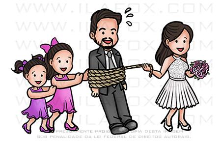caricatura fofinha, caricatura família, caricatura casamento, caricatura simples, by ila fox
